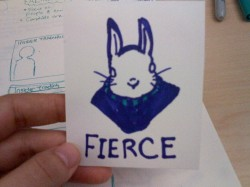 Bunny I drew when I was at a long meeting. All my rabbits are starting to look like Jasper.