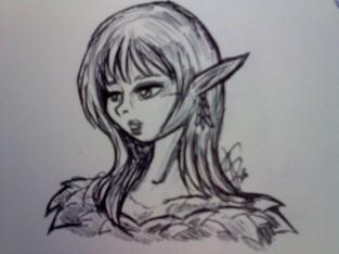 Elf lady in pen