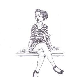 Female in pen