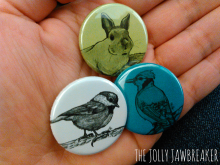 Traditional Animal Art Buttons I developed for my business the Jolly Jawbreaker
