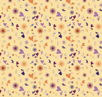 Floral Shape Toss Pattern. This was an experimental toss pattern I created while attending a Digital Pattern workshop.