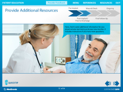 This is an example of a click-tell image page Joslyn worked on for a client in the medical industry.